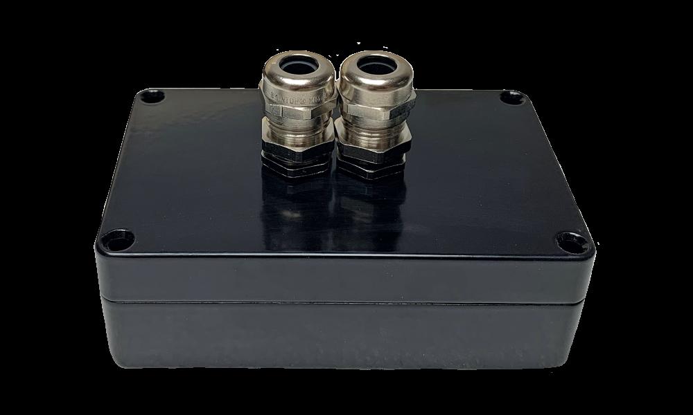 Aluminium RF montagebox zwart