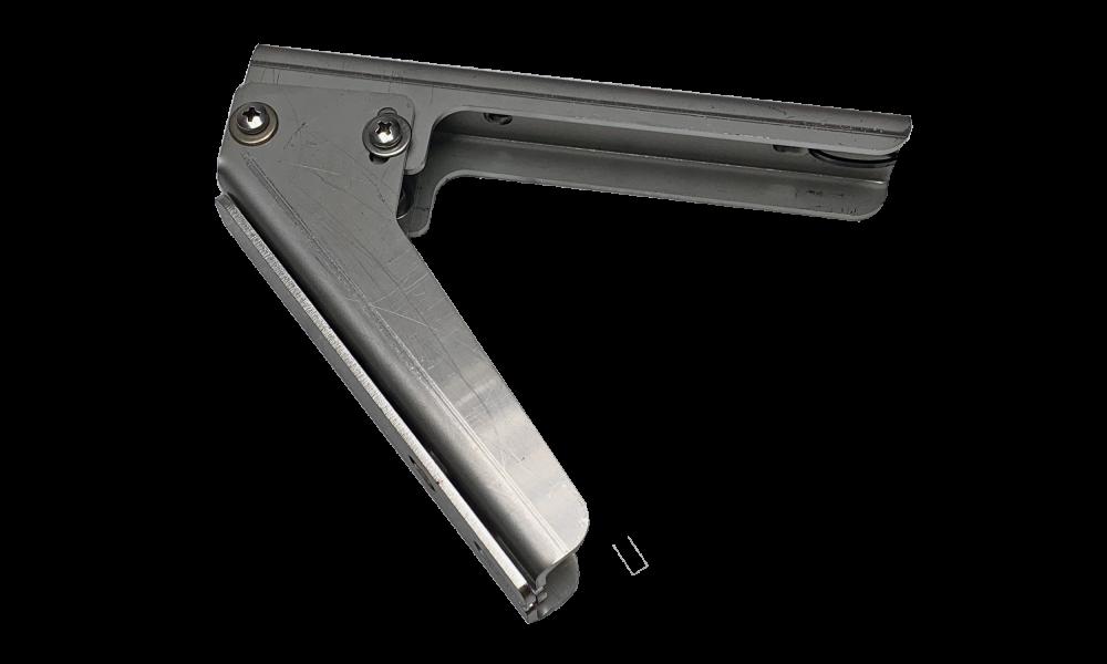 JLF beugelset type 121 35/45/55gr wand/plafond RVS