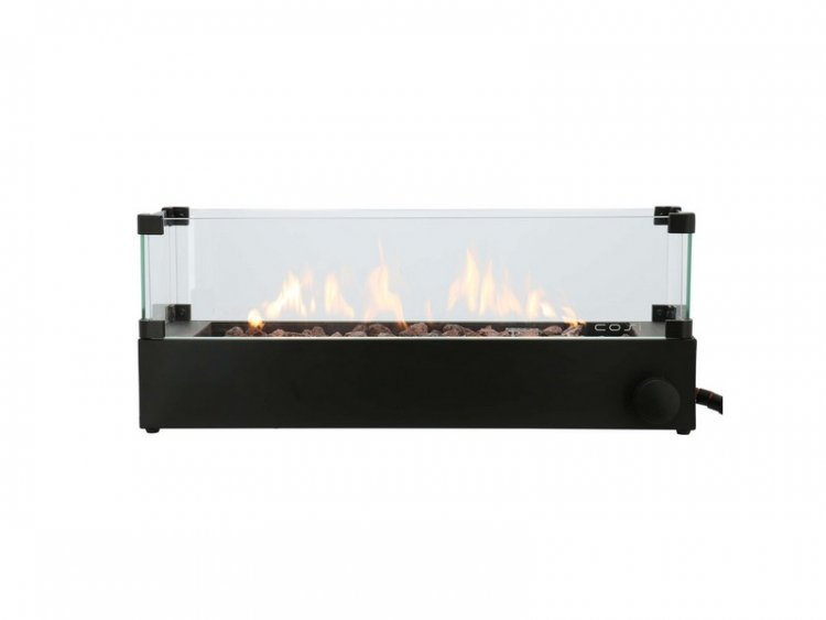 Cosiburner build up black incl. glass