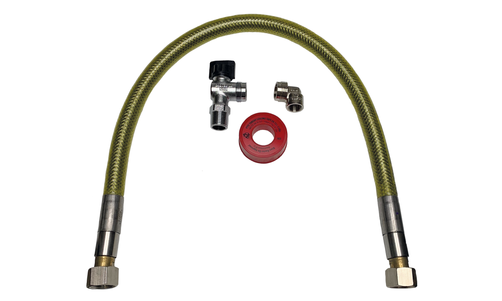 JLF connection set gas hose stainless steel superior 50 cm.