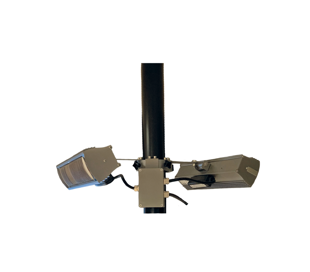 Tansun parasolring 2x1500W zwart