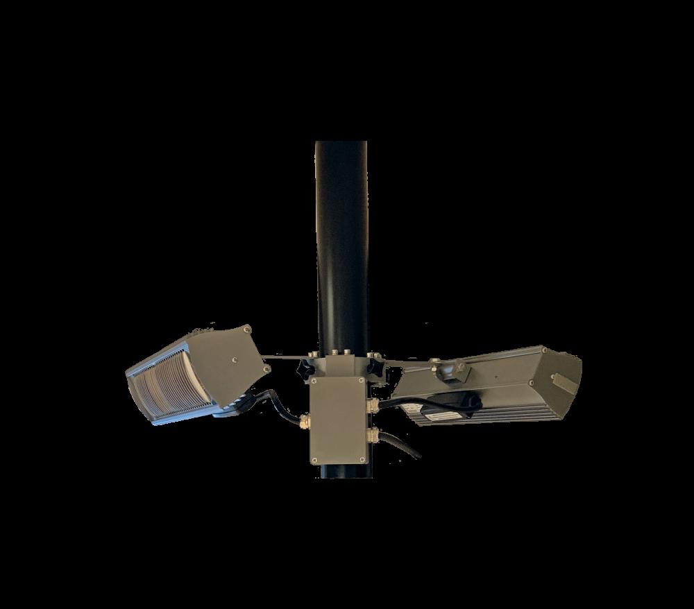 Tansun parasolring RF 2x1500W zwart