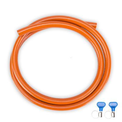 Propane hose set 2 meter, incl. 2x hose clamp