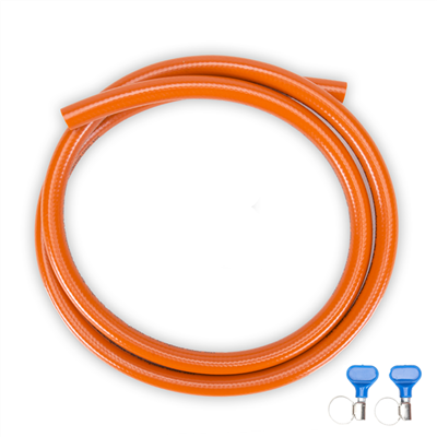 Propane hose set 10 meter incl. 2x hose clamp